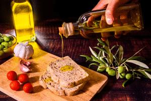 Tostada con aceite de oliva buenos