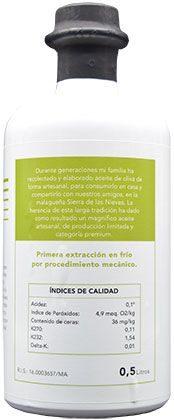 Aceite de oliva ecológico premium 05